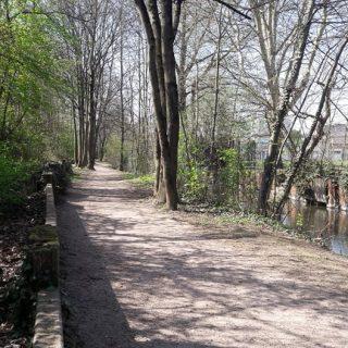 Das Ziegelwasser im Kurgartenpark