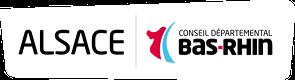 Logo du Conseil Départemental du Bas-Rhin, partenaire du SSHB
