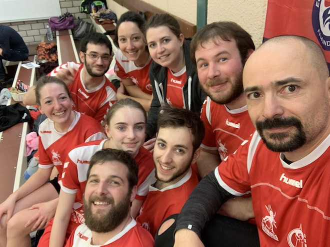 Les membres de l'équipe Loisir du Strasbourg Sud Handball