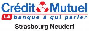 Logo du Crédit Mutuel Strasbourg Neudorf, partenaire du SSHB